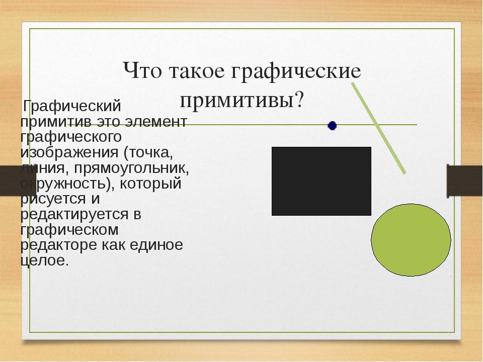 Картинки графическими примитивами