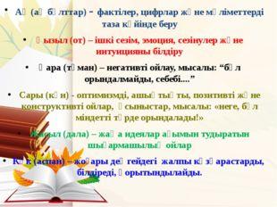 Ақ (ақ бұлттар) - фактілер, цифрлар және мәліметтерді таза күйінде беру Қызыл
