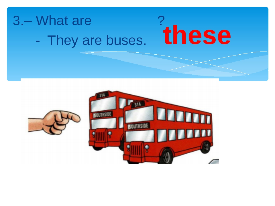 3.– What are ? - They are buses. these
