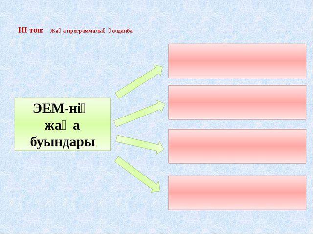 ІІІ топ: Жаңа программалық қолданба ЭЕМ-нің жаңа буындары