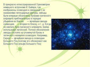 В прекрасно иллюстрированной Уранометрии немецкого астронома И. Байера, где и