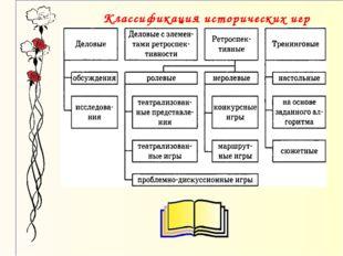 Классификация исторических игр