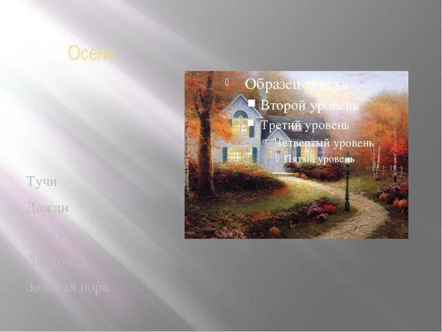 Осень Тучи Дожди Листья Листопад Золотая пора