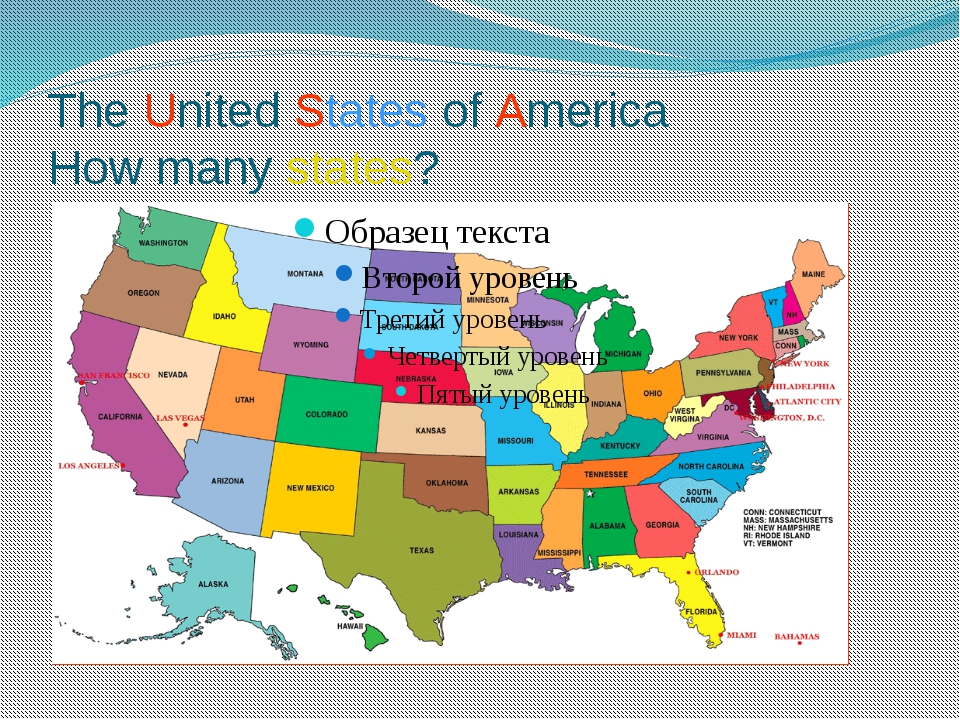 The United States of America How many states?