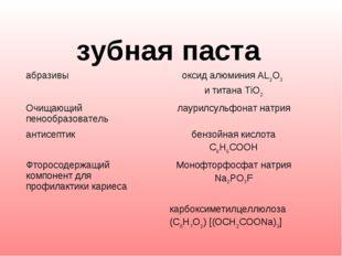 зубная паста абразивыоксид алюминия AL2O3 и титана TiO2 Очищающий пенообра