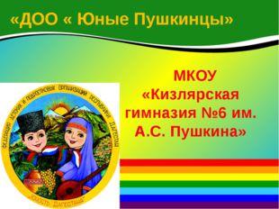 «ДОО « Юные Пушкинцы» МКОУ «Кизлярская гимназия №6 им. А.С. Пушкина»