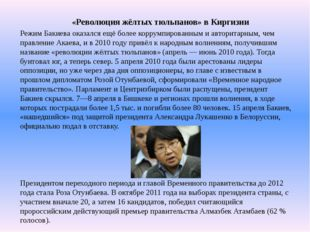 «Революция жёлтых тюльпанов» в Киргизии Режим Бакиева оказался ещё более корр