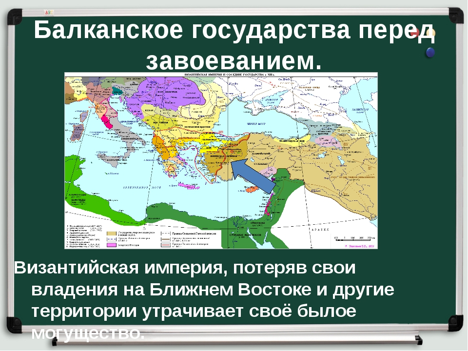Балканское государства перед завоеванием. Византийская империя, потеряв свои...