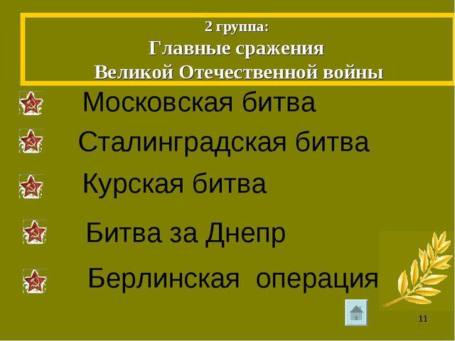Московская битва 2 группа: Главные сражения Великой Отечественной войны Стали...