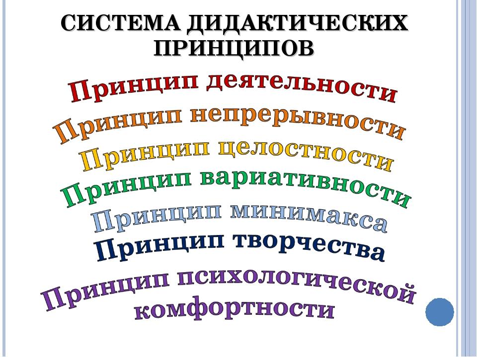 СИСТЕМА ДИДАКТИЧЕСКИХ ПРИНЦИПОВ