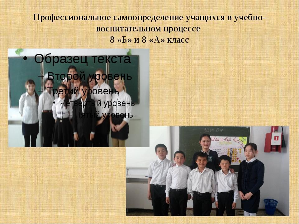 Профессиональное самоопределение учащихся в учебно-воспитательном процессе 8...
