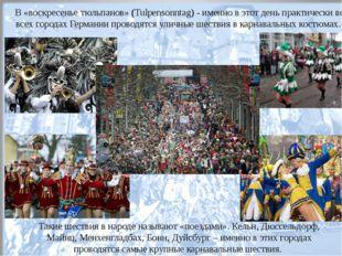Такие шествия в народе называют «поездами». Кельн, Дюссельдорф, Майнц, Менхен