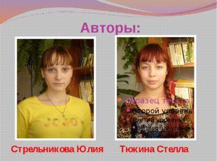 Авторы: Стрельникова Юлия Тюкина Стелла