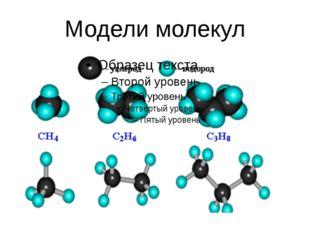 Модели молекул