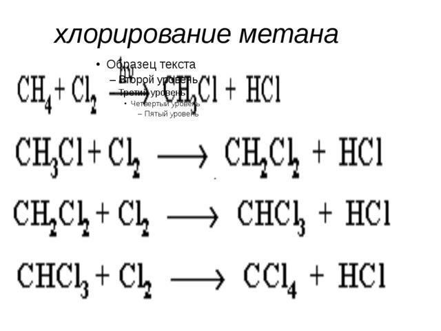 хлорирование метана