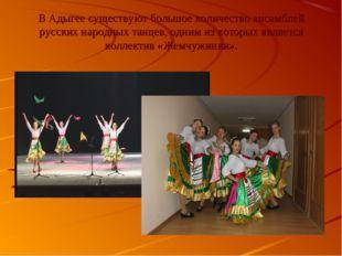 В Адыгее существуют большое количество ансамблей русских народных танцев, одн