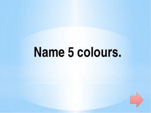 Name 5 sports