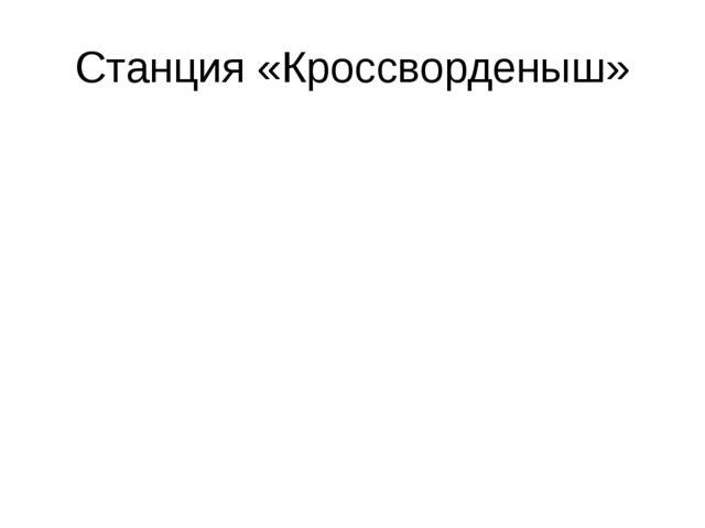 Станция «Кроссворденыш»