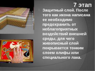 7 этап Защитный слой. После того как икона написана ее необходимо предохранит
