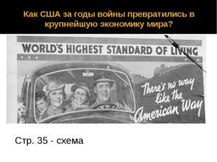 Как США за годы войны превратились в крупнейшую экономику мира? Стр. 35 - схема