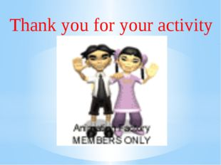 Thank you for your activity