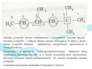 Атомы углерода могут соединяться с различным числом других атомов углерода –