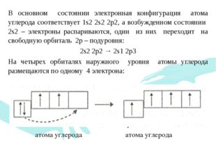 В основном состоянии электронная конфигурация атома углерода соответствует 1s