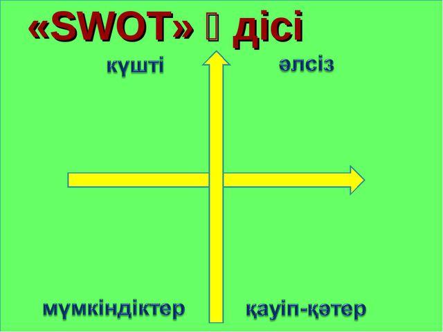 «SWOT» әдісі