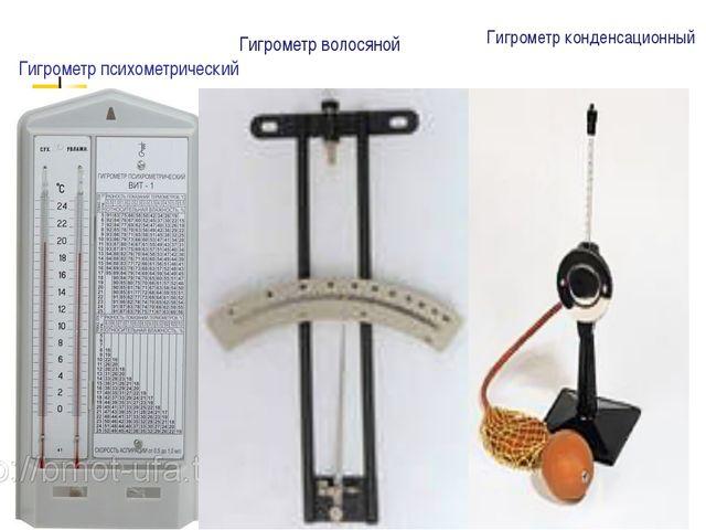 Гигрометр психометрический Гигрометр волосяной Гигрометр конденсационный МОУС...