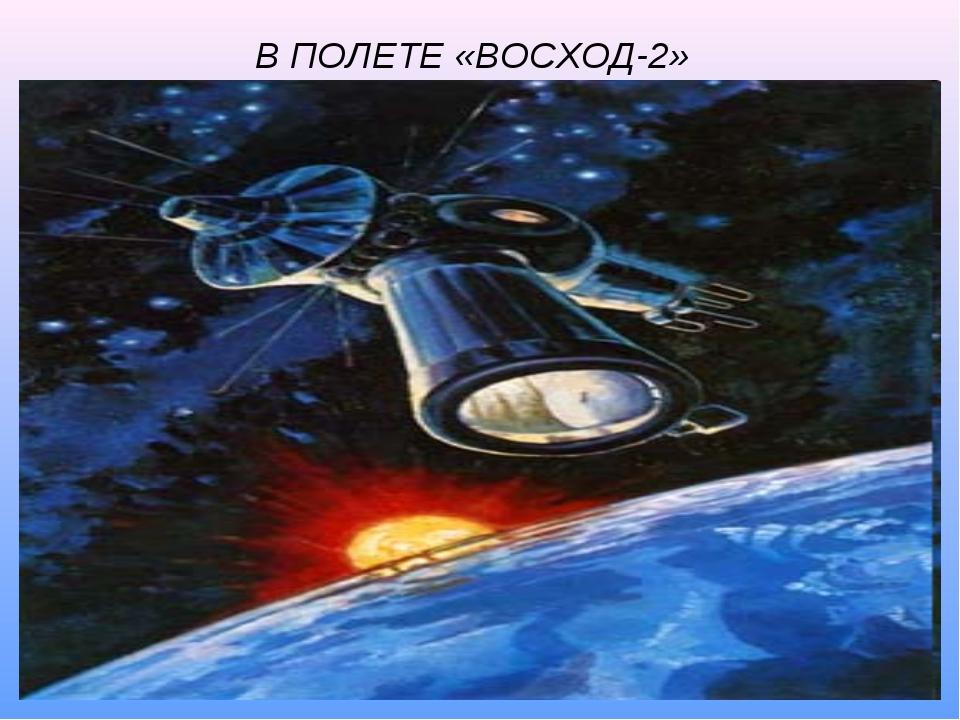В ПОЛЕТЕ «ВОСХОД-2»