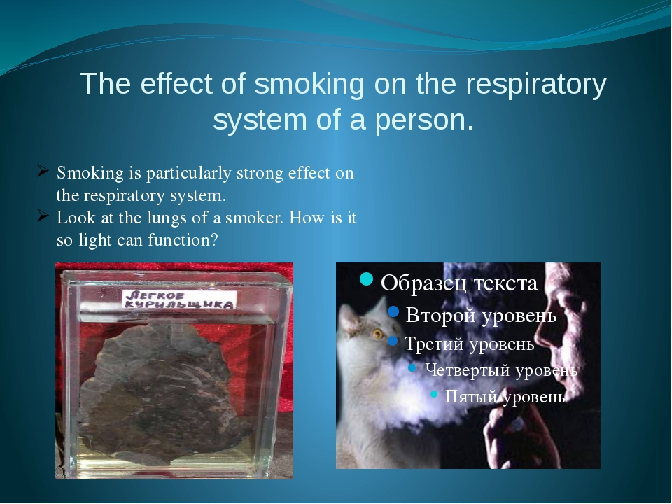 The effect of smoking on the respiratory system of a person. Smoking is parti...