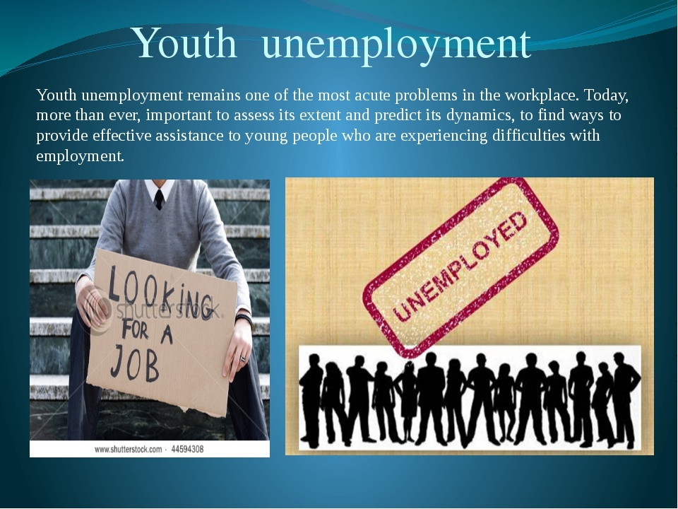 Youth unemployment remains one of the most acute problems in the workplace....