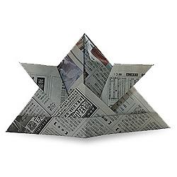 Оригами из газеты