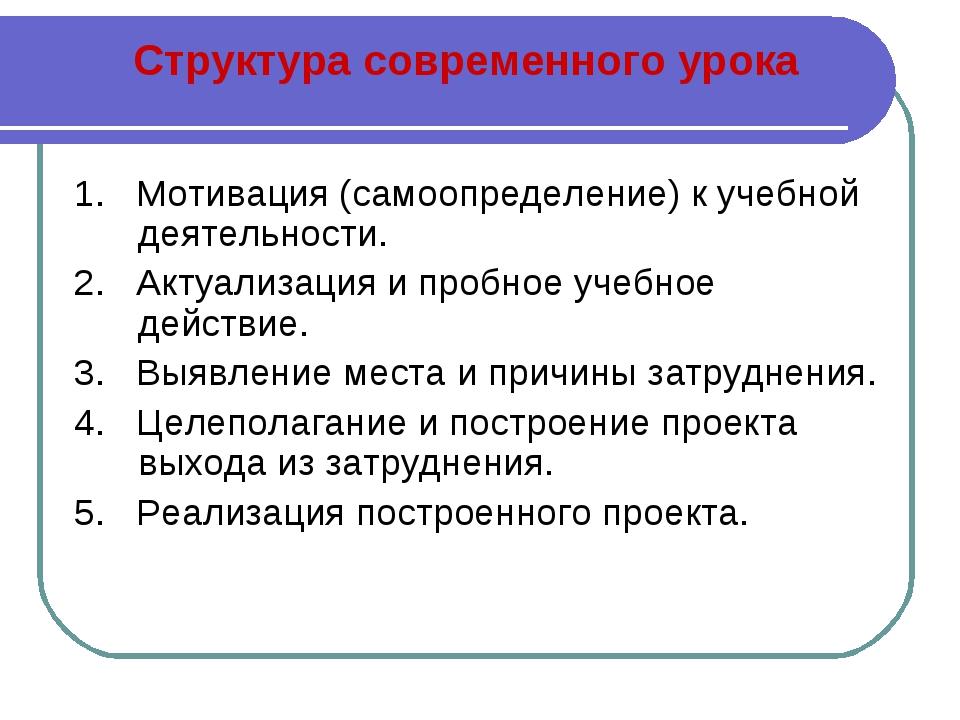 1. Мотивация (самоопределение) к учебной деятельности. 2. Актуализация и проб...