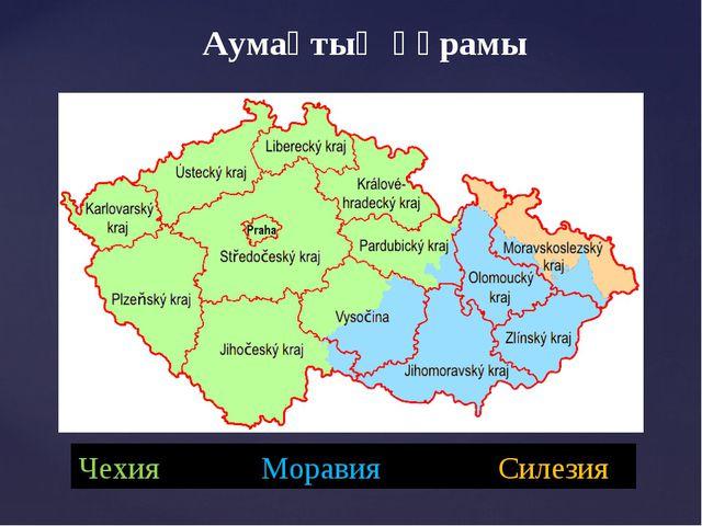Аумақтың құрамы Чехия Моравия Силезия