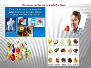Полезные продукты для зубов и дёсен