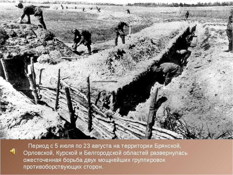 Период с 5 июля по 23 августа на территории Брянской, Орловской, Курской и Б...
