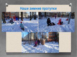 Наши зимние прогулки
