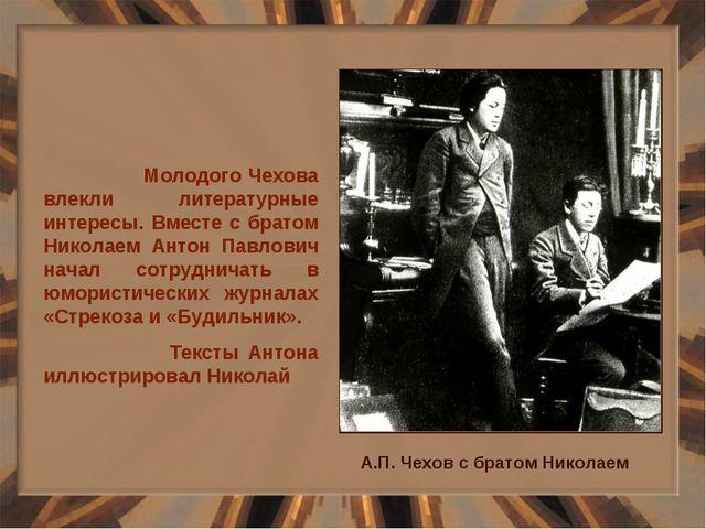 Молодого Чехова влекли литературные интересы. Вместе с братом Николаем Антон...