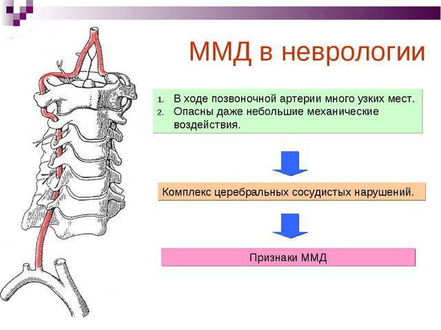 В ходе позвоночной артерии много узких мест. Опасны даже небольшие механическ...