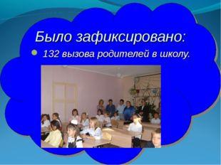 Было зафиксировано: 132 вызова родителей в школу.