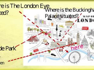 Where is The London Eye situated? Where is the Buckingham Palace situated? Bi