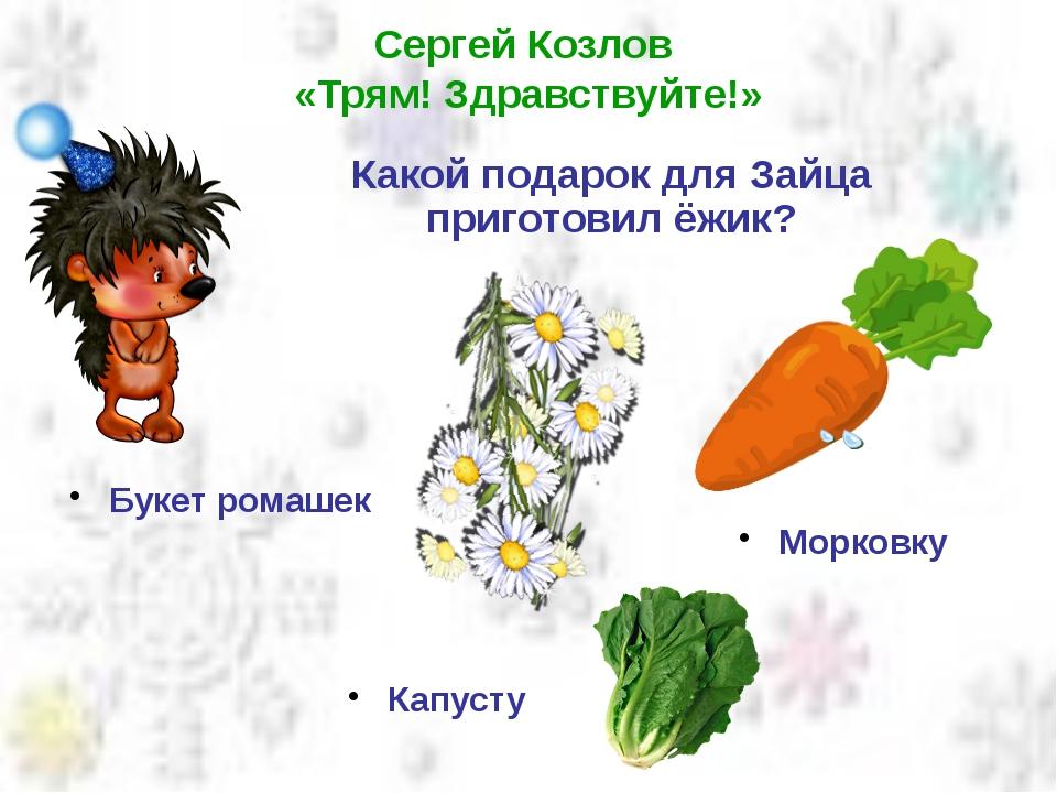 Сергей Козлов «Трям! Здравствуйте!» Какой подарок для Зайца приготовил ёжик?...