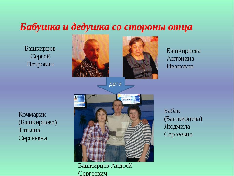 Башкирцев Сергей Петрович Башкирцева Антонина Ивановна Бабушка и дедушка со с...