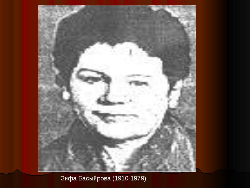 Зифа Басыйрова (1910-1979)