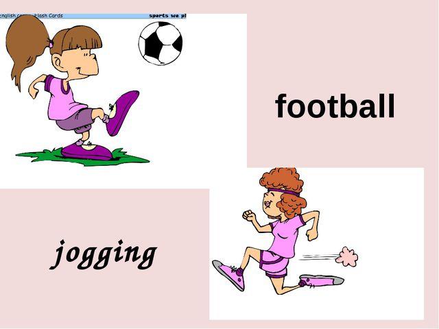 football jogging