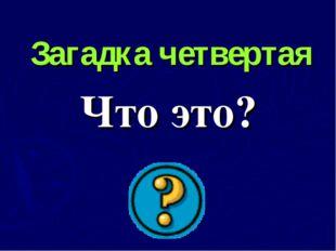 Загадка четвертая Что это?
