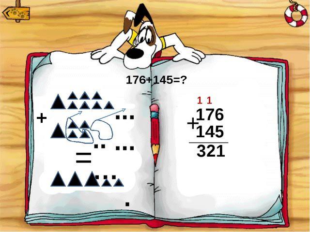 ... ... .. … + = . 176+145=? 176 + 145 1 2 3 1 1