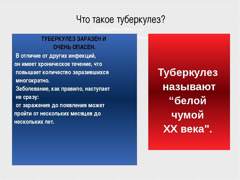 Что такое туберкулез? Туберкулез (чахотка) – одно из древнейших инфекционных...