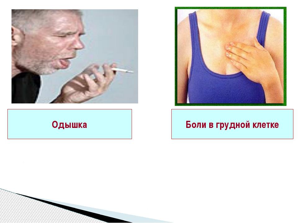 Одышка Боли в грудной клетке Одним из наиболее веских аргументов при диагнос...